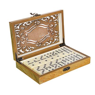 LDGames Домино в подарочной коробке, дерево, 20х13х4см