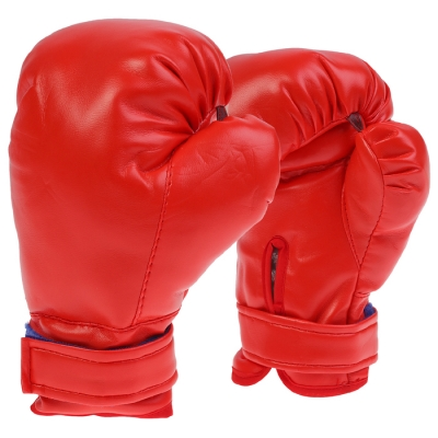 Перчатки боксерские, детские, цвет красный