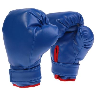 Перчатки боксерские, детские, цвет синий