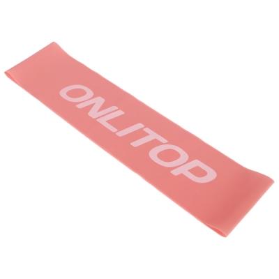 Фитнес-резинка, 30,5 х 7,6 см, толщина 3,5 мм, нагрузка до 3 кг, цвет розовый