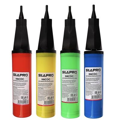 SILAPRO Насос для мяча гимнастического, пластик, 28х5см, 4 цвета