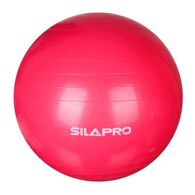 SILAPRO Мяч для фитнеса гимнастический, ПВХ, d75см, 900гр, 6 цветов, в коробке