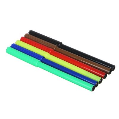 Фланкер Фломастеры 6 цветов с цветным вентилируемым колпачком, в ПВХ пенале с подвесом