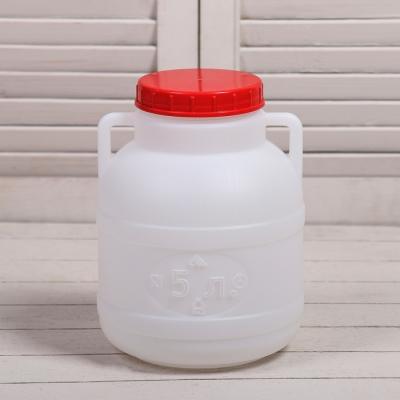 Фляга-бочка пищевая, 5 л, белая