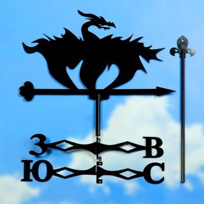 """Флюгер """"Дракон"""" средний 45х45см"""