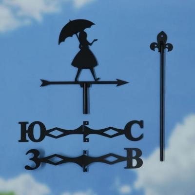 """Флюгер """"Девушка с зонтом"""" средний 30х40см"""