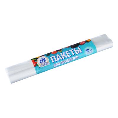 Пакеты для продуктов 50 шт, 24х37см, в рулоне, полиэтилен, 6мкм