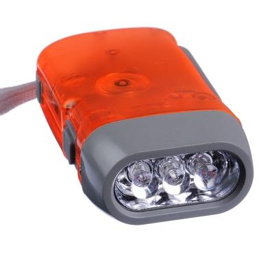 ЧИНГИСХАН Фонарик динамический 3 LED, пластик, 9,5х5 см