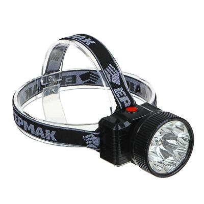 ЧИНГИСХАН Фонарь налобный аккумуляторный 8 ярк.+ 0,5 Вт LED, вилка 220В, 8,8x7,4х8,5см