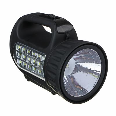 ЧИНГИСХАН Фонарь прожектор аккумуляторный18 SMD + 1 Вт LED, шнур 220В, резинопластик, 18x11 см