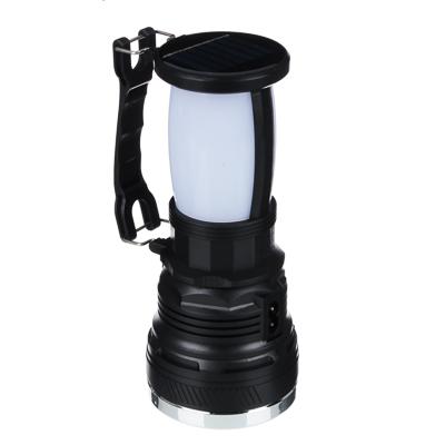 ЧИНГИСХАН Фонарь прожектор 2-в-1 аккумуляторный 24 SMD + 1 Вт LED, шнур 220В, пластик, 17,5x7,5 см