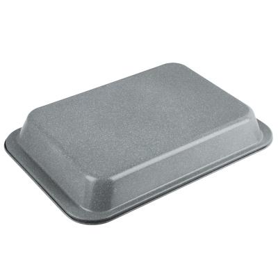 SATOSHI Противень глубокий, 37,5х25х5,5см, угл.сталь, антипригарное покрытие