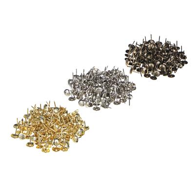 Гвозди мебельные усиленные декор., 100гр, 167шт, бронза, золото, хром, металл