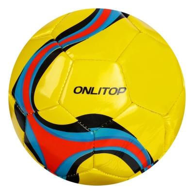 Мяч футбольный Pass, размер 5, 32 панели, PVC, 2 подслоя, машинная сшивка, 260 г, МИКС