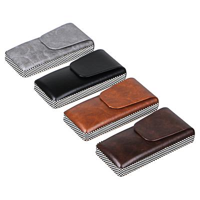 PAVO Футляр для очков на магнитной застежке, ПУ, 14,5х7см, 4 цвета