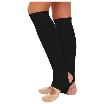 Гетры для танцев №5, без носка и пятки, L= 40 см, цвет чёрный