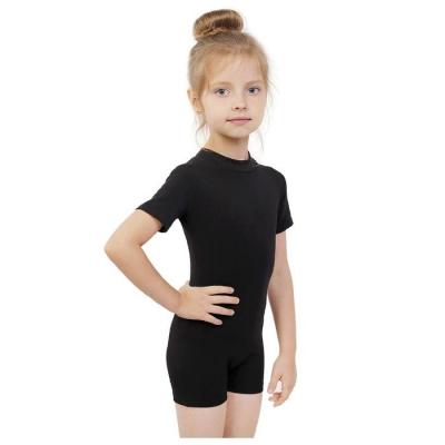 Купальник-шорты, с коротким рукавом, размер 30, цвет чёрный