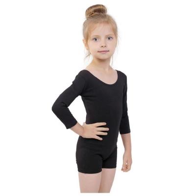 Купальник-шорты, рукав 3/4, размер 30, цвет чёрный