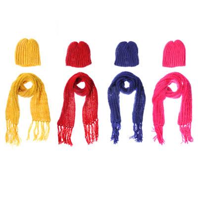 GALANTE Комплект взрослый шапка р 56, шарф 150х17см, 4 цвета, ОЗ21-53