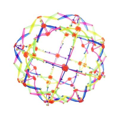 Игрушка в виде шара-трансформера, пластик, 14см, разноцветная