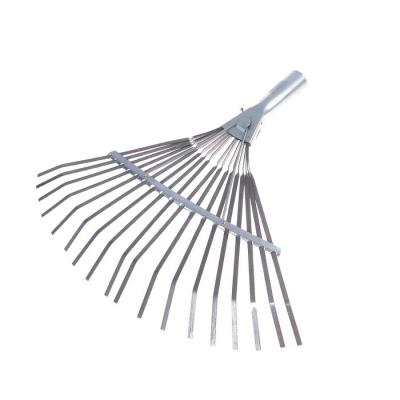 Грабли веерные, пластинчатые, 18 зубцов, оцинковка, без черенка, тулейка 30 мм