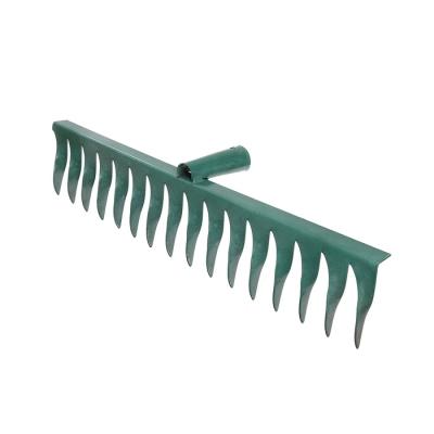 Грабли прямые, повёрнутый зубец, 16 зубцов, металл, тулейка 28 см, без черенка