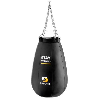 Груша боксёрская EFFORT PRO, металлическое кольцо и цепь, 65 см, d=40 см, 16 кг