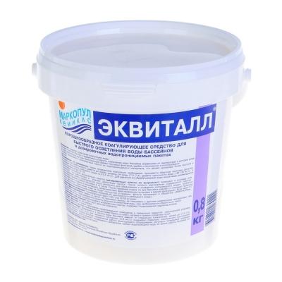 """Коагулянт осветлитель воды """"Эквиталл"""", порошок, ведро, 0,8 кг"""