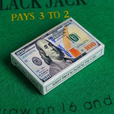 """Карты игральные бумажные """"Доллар"""", 54 шт., 8,8 × 5,7 см"""