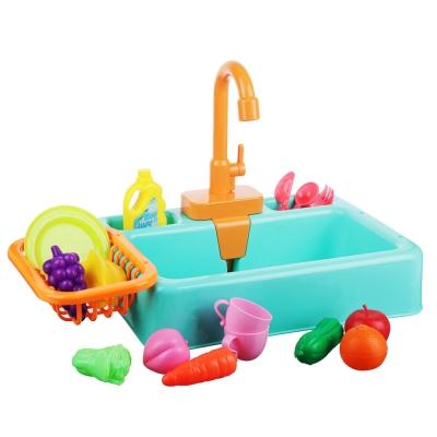 ИГРОЛЕНД Раковина, посуда, продукты, функция вода, 2хАА, пластик, 19 пр., 34х24х9 см, 4 дизайна