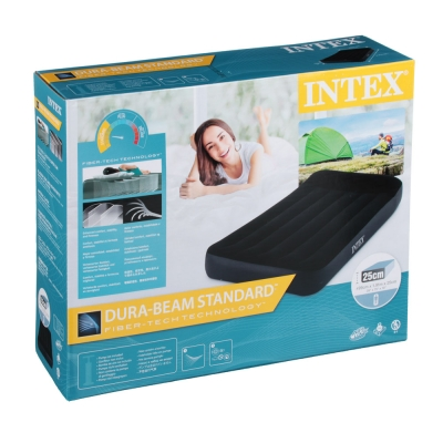 INTEX Кровать надувная с подголовником, ТВИН, 99х191х25 см, 64141