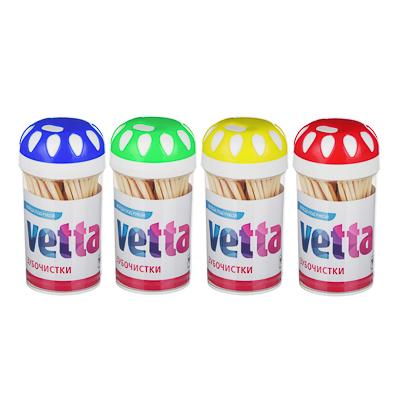 VETTA Зубочистки 100шт, бамбук, пластиковая уп.