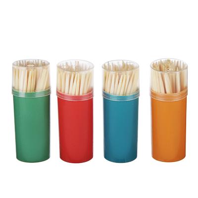 VETTA Зубочистки 60шт, бамбук, пластиковая упаковка