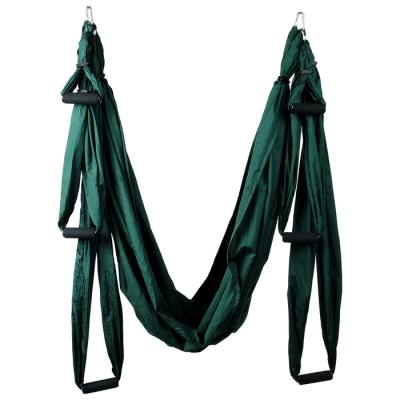 Гамак для йоги 250 × 150 см, цвет зелёный