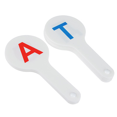 Касса букв, гласные и согласные буквы, 2 веера, 16 пр, пластик, 14,5х6х1,5см, ГС-01