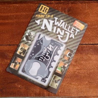 Карта выживания в чехле Wallet ninja 0,5х5,5х8,5см