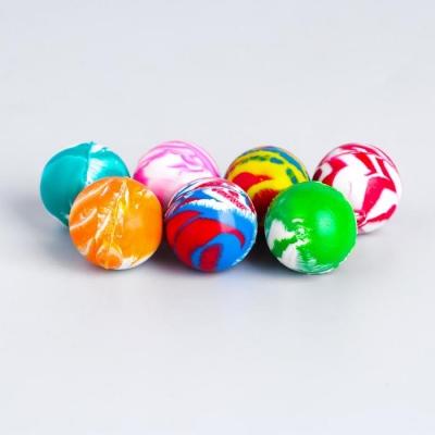 Мяч каучук «Блеск», 2,4 см, цвета МИКС
