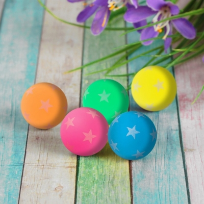 Мяч каучуковый «Звёздочки», светится в темноте, 4,3 см, цвета МИКС