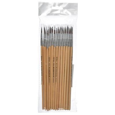 Кисть художественная №3, наконечник из волоса Белки, деревянная ручка, метал.оплетка, инд.маркировка