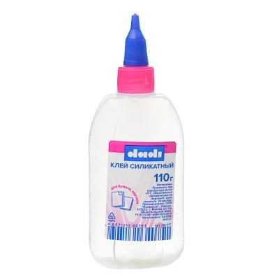 Клей силикатный 110 грамм в пластмассовой бутылочке
