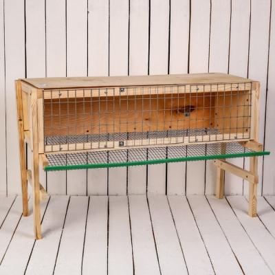 Клетка для перепелов, 100 × 60 × 35 см, на 25-40 голов, с яйцесборником, деревянная