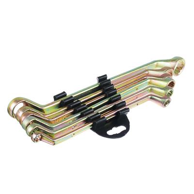 ЕРМАК Набор ключей накидных, 6 предм., 8x10 - 17x19мм, желтый цинк, пластик холдер