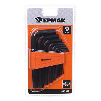 ЕРМАК Набор ключей - шестигранников 2,0-12мм, 9шт. (009)