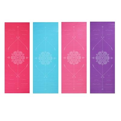 SILAPRO Коврик для йоги, ПВХ, 61х173см, толщина 4мм, с принтом, 4 цвета