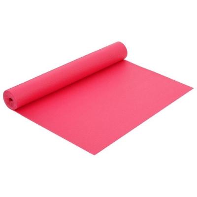 Коврик для йоги 173 × 61 × 0,4 см, цвет розовый