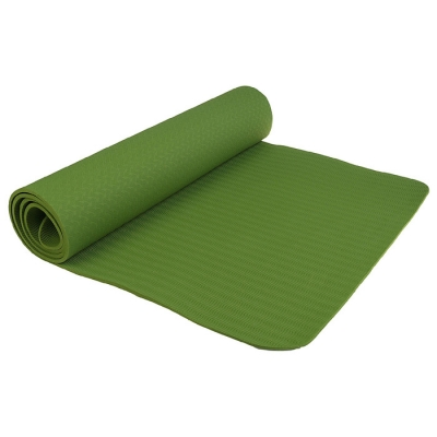 Коврик для йоги 183 × 61 × 0,6 см, цвет зелёный