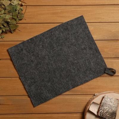 Коврик для бани и сауны, войлок серый, 30×40 см