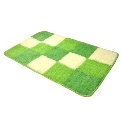 VETTA Набор ковриков 2шт для ванной и туалета, акрил, 50x80см + 50x50см, зелёный 4 дизайна