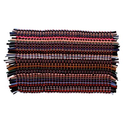 Коврик плетеный эконом, полиэстер, 35х55см, разноцветный