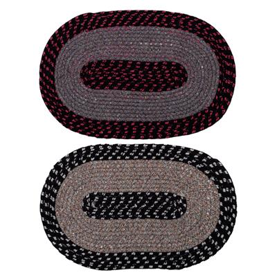 Коврик плетеный, полиэстер, 38х58см, 2 цвета